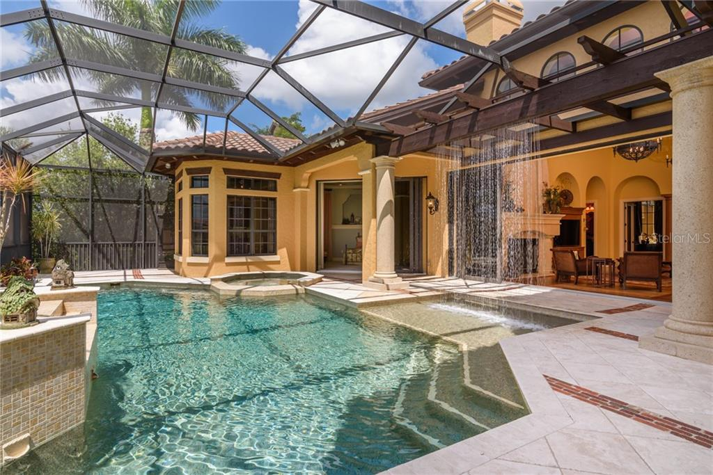 The Private Sunning Area off the Master Bathroom. - Single Family Home for sale at 11823 River Shores Trl, Parrish, FL 34219 - MLS Number is A4194999