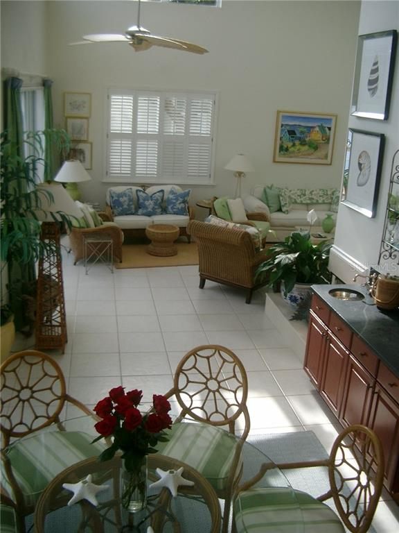 Dining area off kitchen looking towards Great Room - Single Family Home for sale at 3452 Mistletoe Ln, Longboat Key, FL 34228 - MLS Number is A4415200