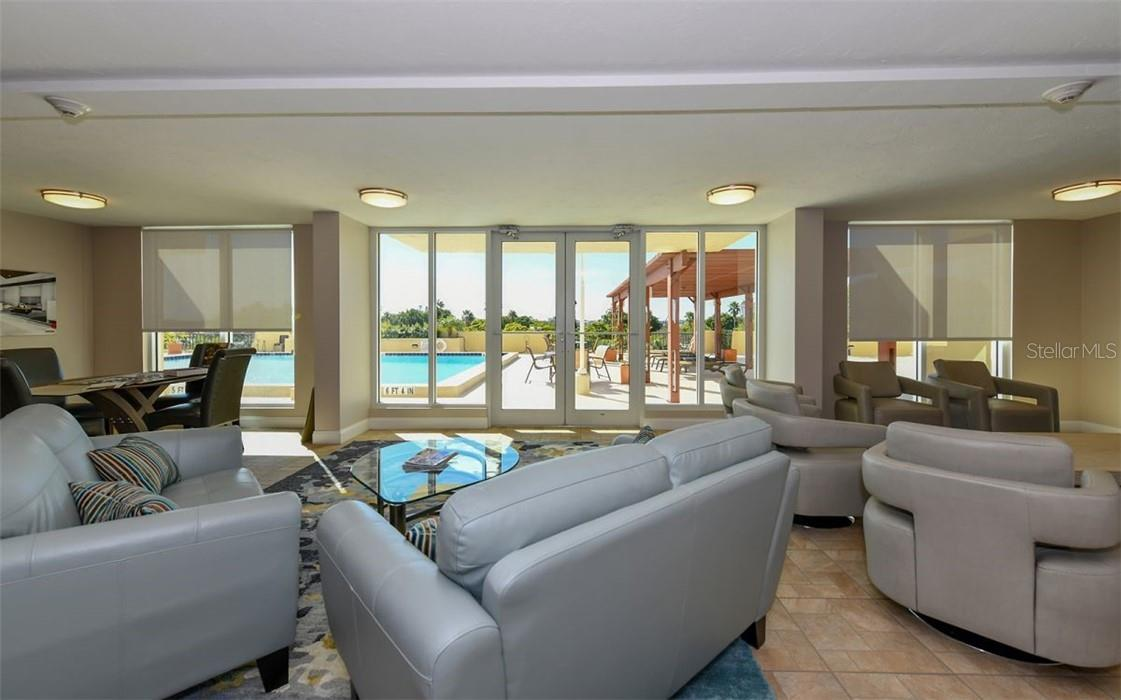 Recreational Room on 4th Floor - Condo for sale at 101 S Gulfstream Ave #10d, Sarasota, FL 34236 - MLS Number is A4420377