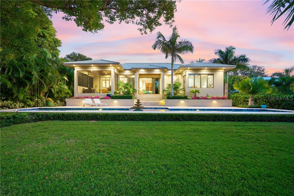 Lush grounds & beautiful gardens. - Single Family Home for sale at 1575 Bay Point Dr, Sarasota, FL 34236 - MLS Number is A4425602