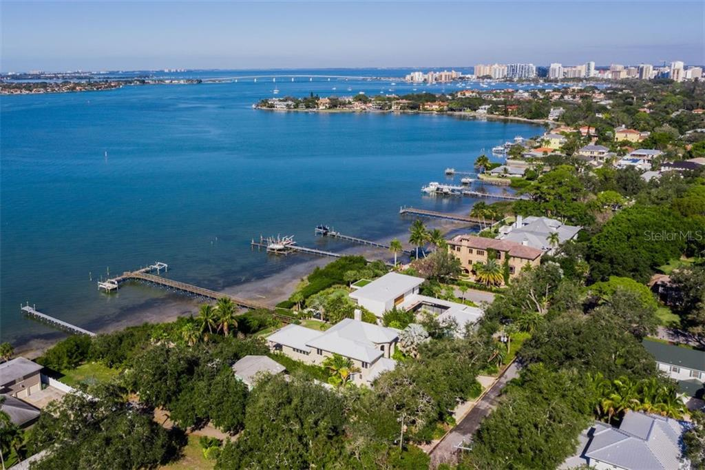 Ariel View - Single Family Home for sale at 2610 Cardinal Pl, Sarasota, FL 34239 - MLS Number is A4426055