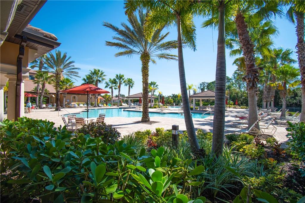 Pool area - Villa for sale at 1808 Batello Dr, Venice, FL 34292 - MLS Number is A4426491