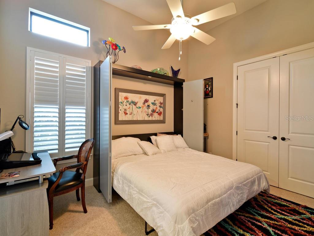 This wonderful KING SIZED Murphy bed is staying! Built in closet, plantation shutters, and it has it's own private bathroom. - Single Family Home for sale at 13707 Palazzo Ter, Bradenton, FL 34211 - MLS Number is A4427731
