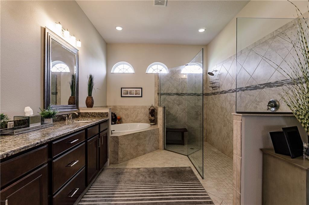 Spa like master bath. - Single Family Home for sale at 17006 1st Dr E, Bradenton, FL 34212 - MLS Number is A4432830