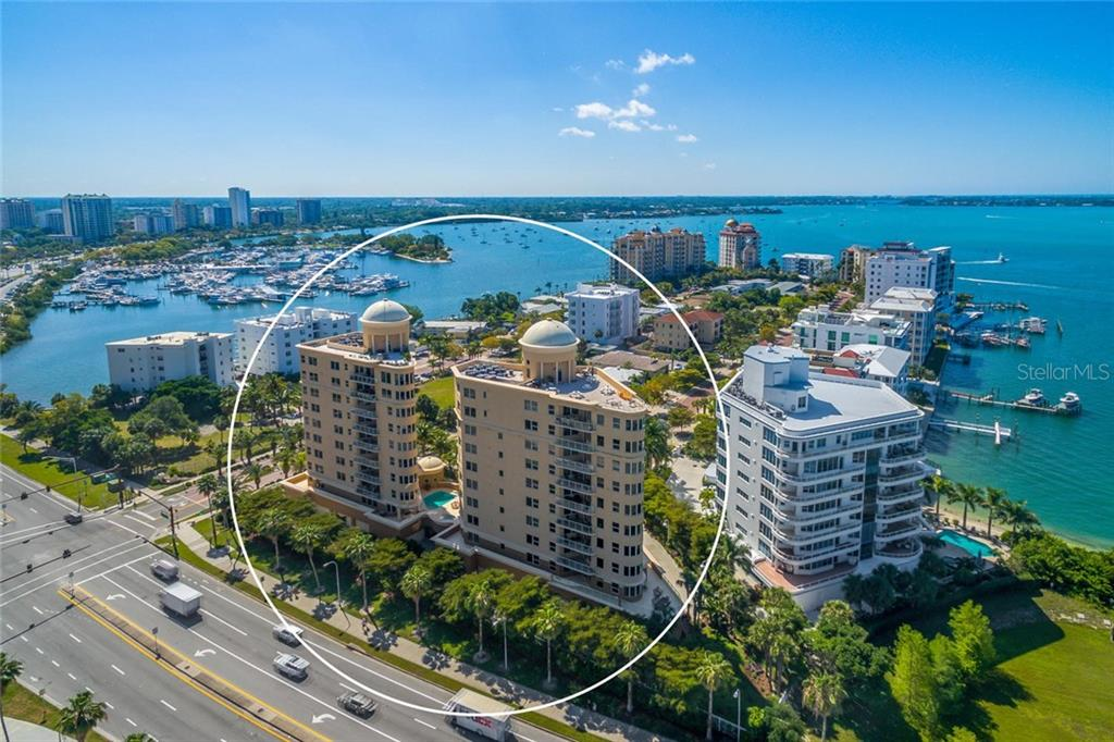 Ultimate Location on Golden Gate Point with incredible panoramic views of the Marina, Bay, Intracoastal and Gulf! - Condo for sale at 128 Golden Gate Pt #902a, Sarasota, FL 34236 - MLS Number is A4433296