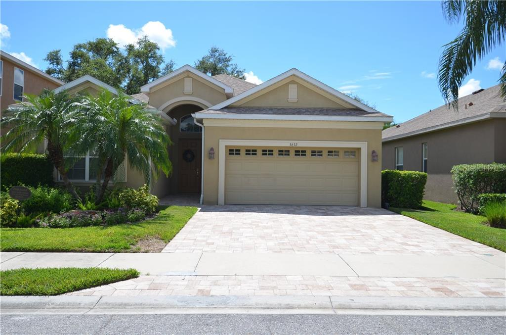 New stone driveway. - Single Family Home for sale at 3632 Summerwind Cir, Bradenton, FL 34209 - MLS Number is A4438762