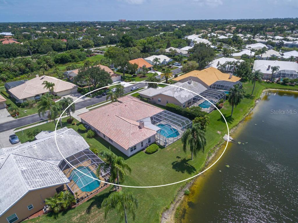 Beautiful view from above! - Single Family Home for sale at 4117 Via Mirada, Sarasota, FL 34238 - MLS Number is A4438764