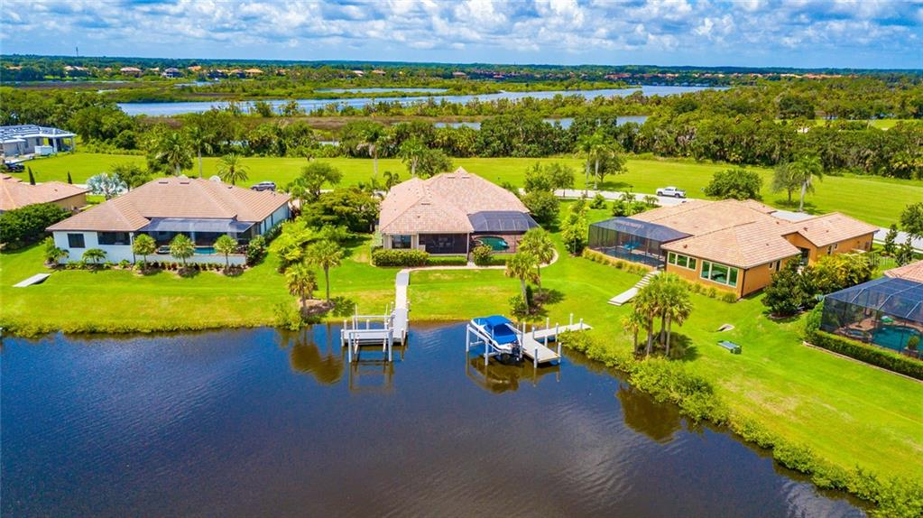 Arial View - Single Family Home for sale at 11728 Rive Isle Run, Parrish, FL 34219 - MLS Number is A4439074
