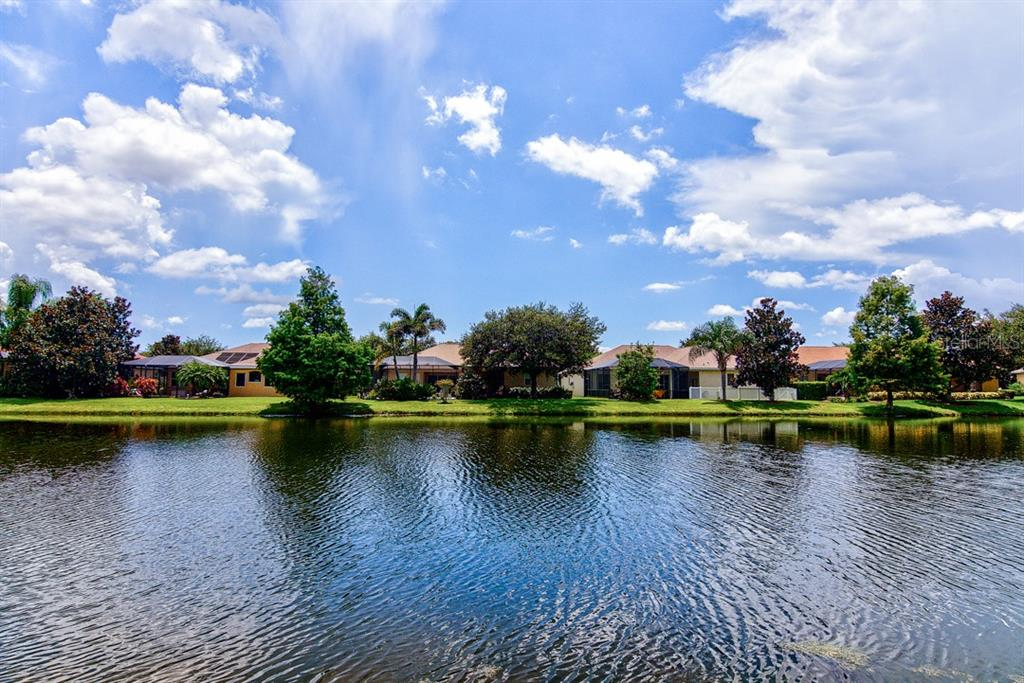 View over Lake from Pool Area - Single Family Home for sale at 6562 Field Sparrow Gln, Lakewood Ranch, FL 34202 - MLS Number is A4441603