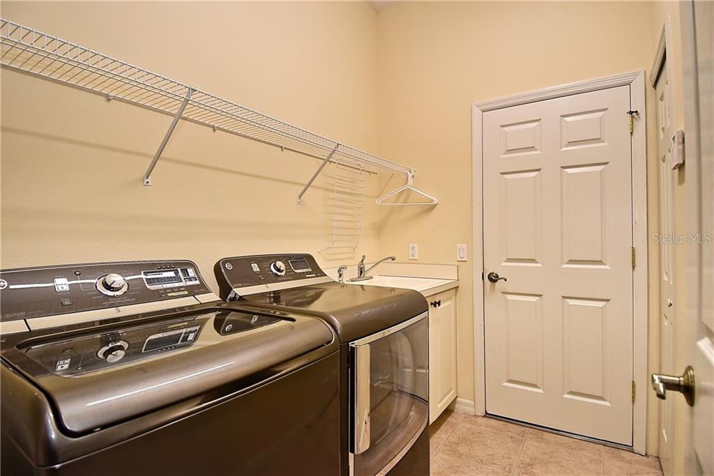 Laundry Area -- Washer and Dryer Included - Single Family Home for sale at 13896 Siena Loop, Lakewood Ranch, FL 34202 - MLS Number is A4444006