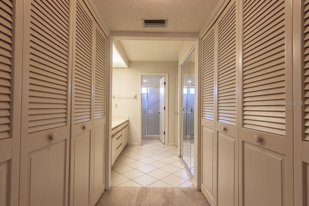 Lots of closet space in master bedroom - Condo for sale at 5322 Huntingwood Ct #35, Sarasota, FL 34235 - MLS Number is A4446793