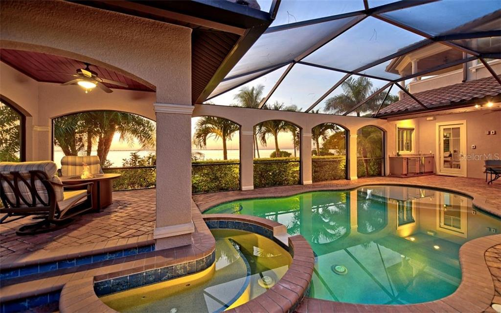 Patio, pool & spa. - Single Family Home for sale at 7903 Longbay Blvd, Sarasota, FL 34243 - MLS Number is A4449717