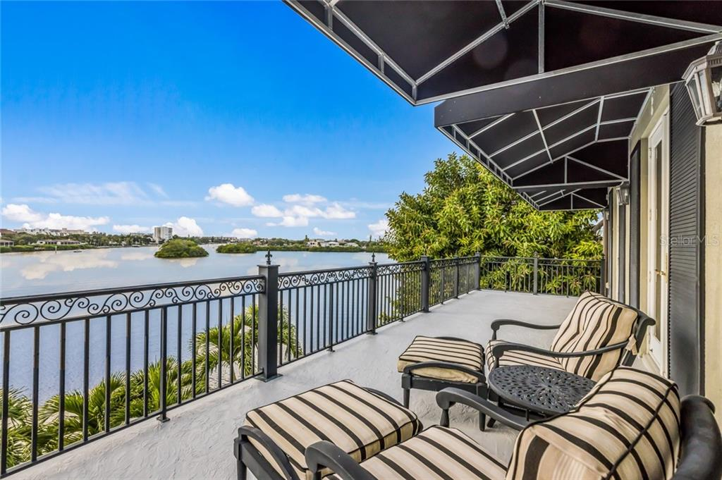 Imagine waking up to this view every morning as you step from the master suite onto your private balcony offering panoramic views of the bay. - Single Family Home for sale at 6438 Hollywood Blvd, Sarasota, FL 34231 - MLS Number is A4449895