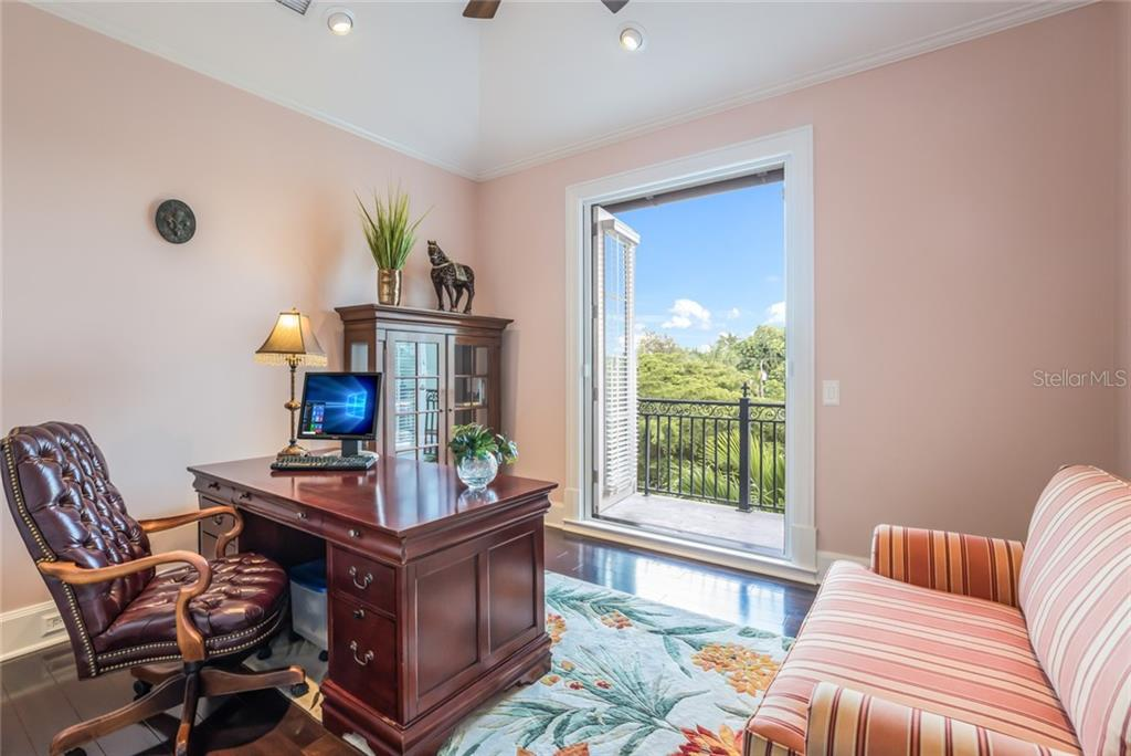 Privacy and a view are found in this spacious office located just steps from the master suite. - Single Family Home for sale at 6438 Hollywood Blvd, Sarasota, FL 34231 - MLS Number is A4449895