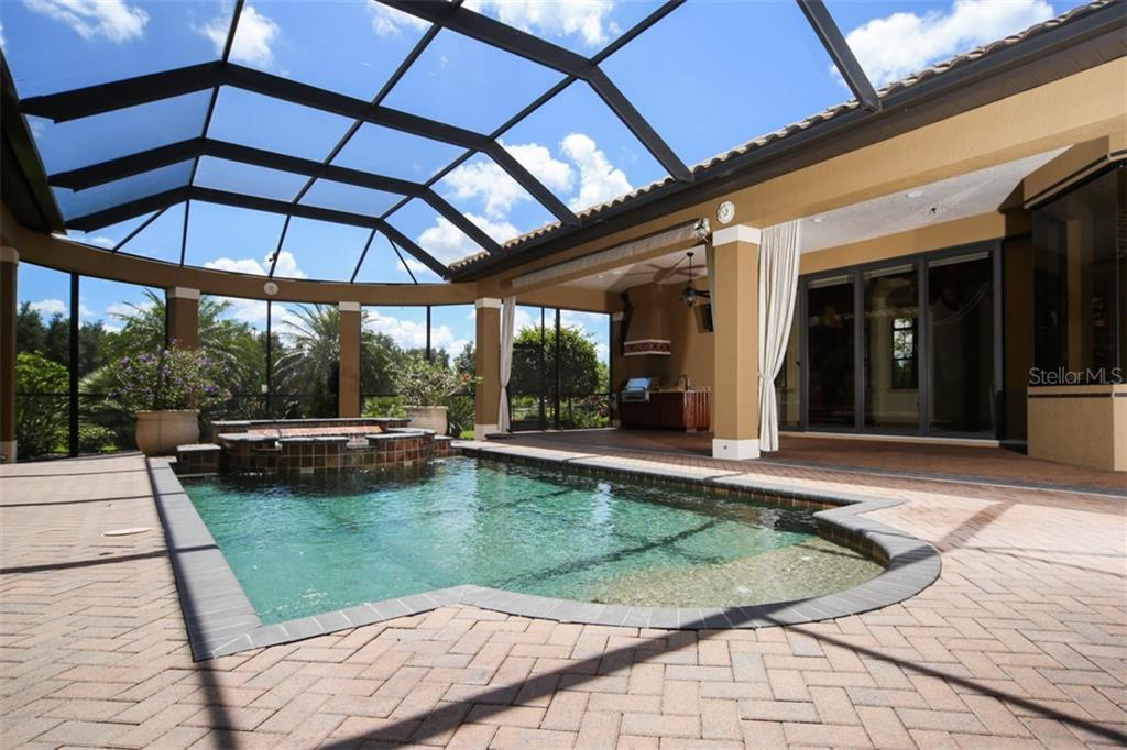 Heated saltwater pool - Single Family Home for sale at 15212 Linn Park Ter, Lakewood Ranch, FL 34202 - MLS Number is A4450793