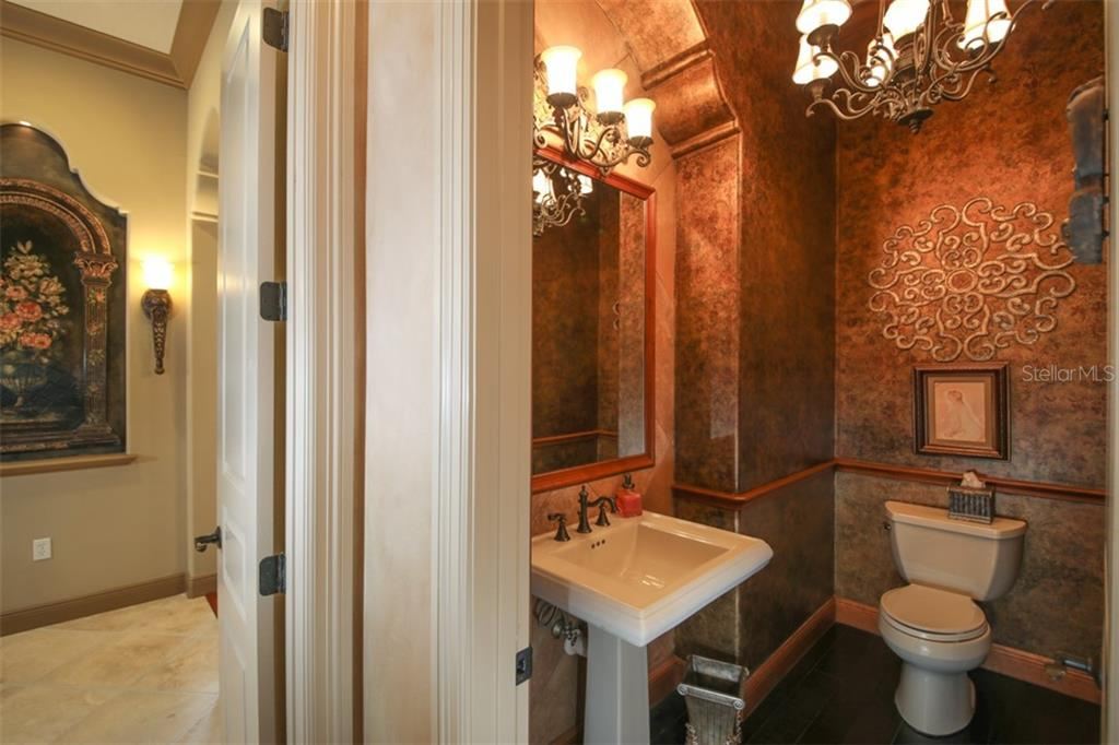 Powder room - Single Family Home for sale at 15212 Linn Park Ter, Lakewood Ranch, FL 34202 - MLS Number is A4450793