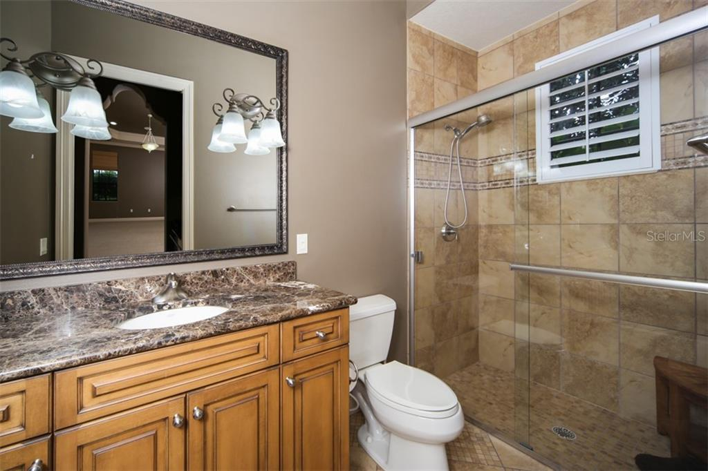 Casita's bath - Single Family Home for sale at 15212 Linn Park Ter, Lakewood Ranch, FL 34202 - MLS Number is A4450793