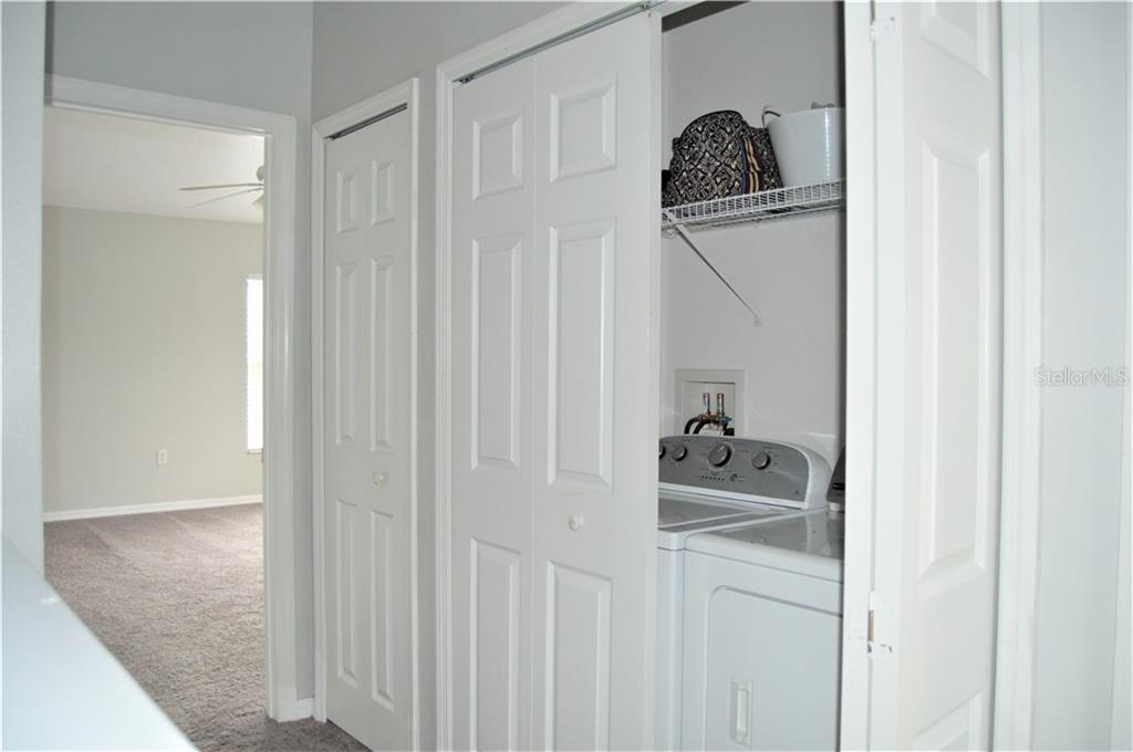 Laundry Closet Upstairs - Townhouse for sale at 14831 Skip Jack Loop, Lakewood Ranch, FL 34202 - MLS Number is A4451607