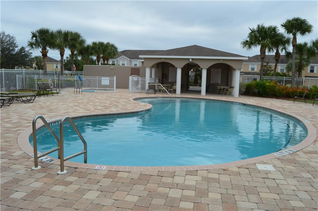 Community Pool with a Covered Lanai. Great for Birthday Parties - Townhouse for sale at 14831 Skip Jack Loop, Lakewood Ranch, FL 34202 - MLS Number is A4451607