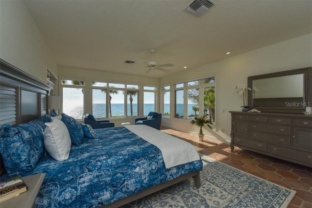 Spacious Master Suite with wide open views. - Single Family Home for sale at 1027 N Casey Key Rd, Osprey, FL 34229 - MLS Number is A4451976
