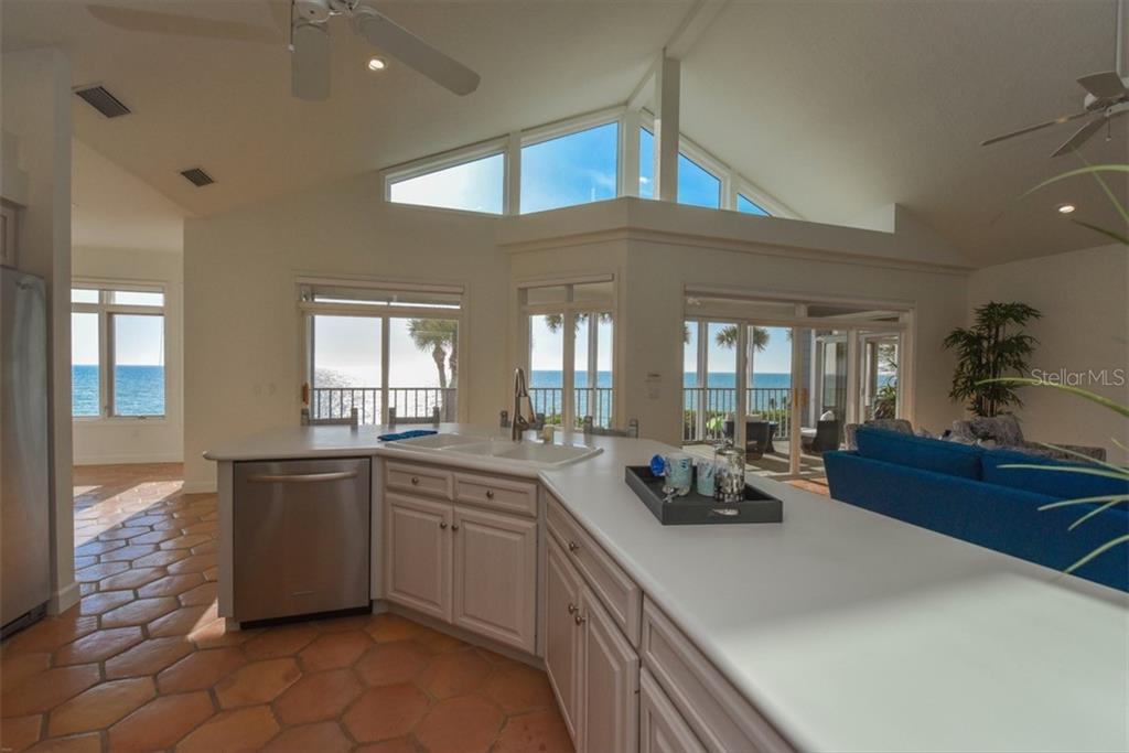 Jaw dropping views from an open concept kitchen/Great Room floorplan - Single Family Home for sale at 1027 N Casey Key Rd, Osprey, FL 34229 - MLS Number is A4451976