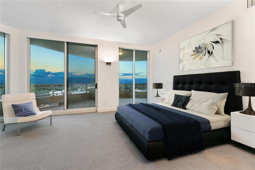 Guest bedroom 2, en-suite with terrace. - Condo for sale at 500 S Palm Ave #91, Sarasota, FL 34236 - MLS Number is A4454405