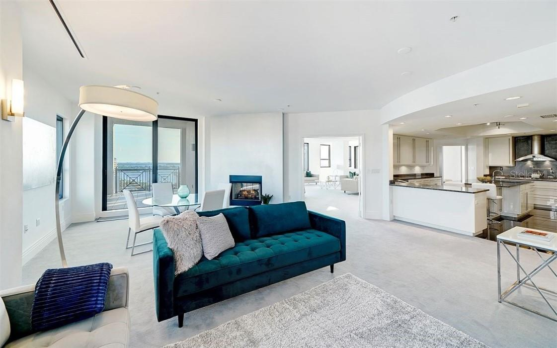 Generous Living Room w/Floor to Ceiling Glass - Condo for sale at 50 Central Ave #16 South, Sarasota, FL 34236 - MLS Number is A4454416