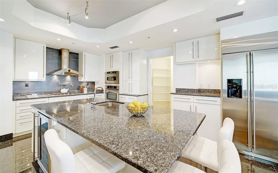 Stylish Kitchen - Stainless Steel Gas Range - Condo for sale at 50 Central Ave #16 South, Sarasota, FL 34236 - MLS Number is A4454416