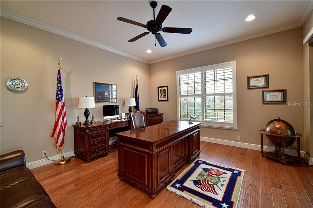 Spacious, Bright Office overlooking Lanai - Single Family Home for sale at 11806 Rive Isle Run, Parrish, FL 34219 - MLS Number is A4457432