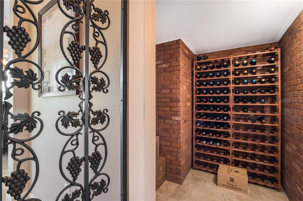 Wine room - Single Family Home for sale at 443 S Polk Dr, Sarasota, FL 34236 - MLS Number is A4459240