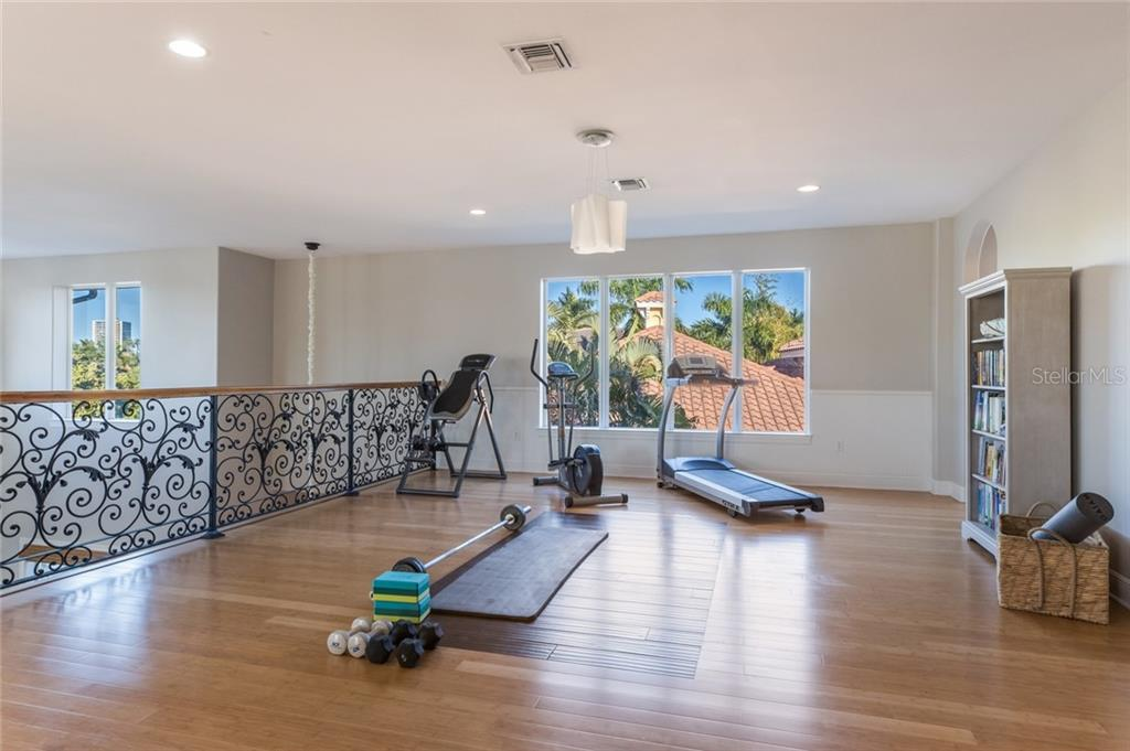 Spacious fitness area - Single Family Home for sale at 443 S Polk Dr, Sarasota, FL 34236 - MLS Number is A4459240