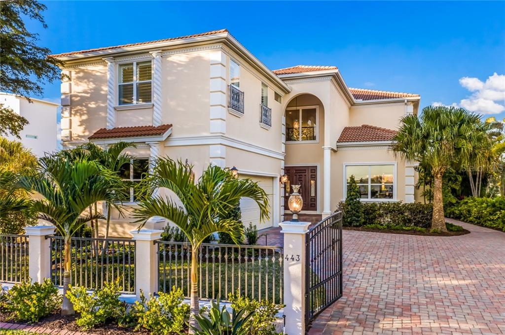 Gated entry. - Single Family Home for sale at 443 S Polk Dr, Sarasota, FL 34236 - MLS Number is A4459240