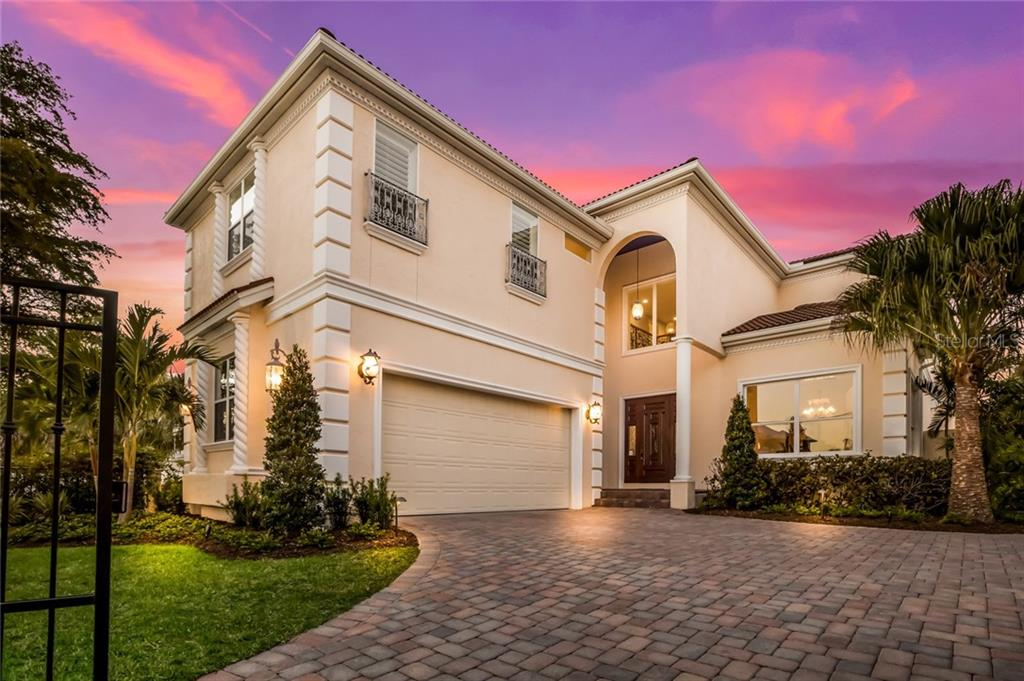 Beautiful entry drive. - Single Family Home for sale at 443 S Polk Dr, Sarasota, FL 34236 - MLS Number is A4459240