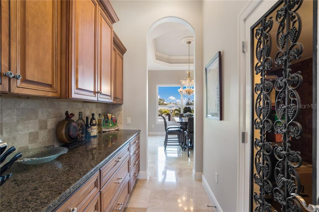 Butler's Pantry and Wine Room - Single Family Home for sale at 443 S Polk Dr, Sarasota, FL 34236 - MLS Number is A4459240