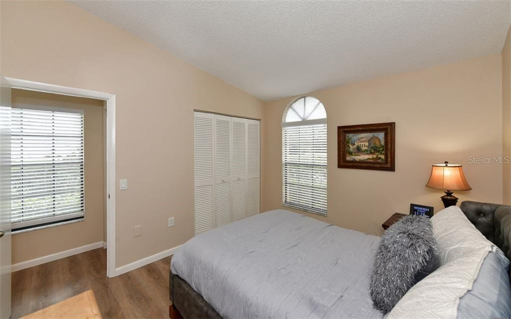 Nice bedroom with all new flooring and painted a soft neutral tone - Condo for sale at 4613 Morningside #30, Sarasota, FL 34235 - MLS Number is A4460777