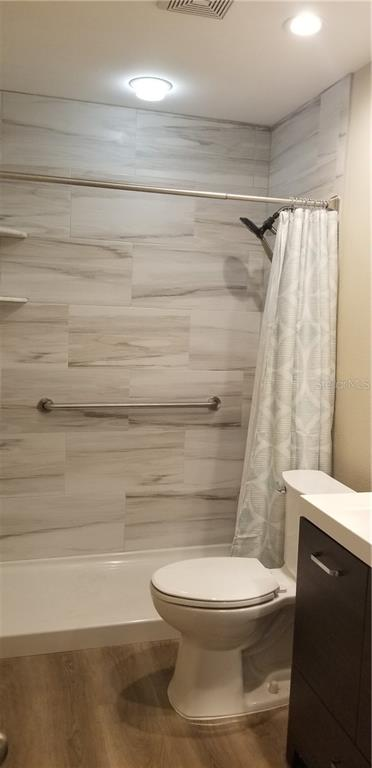 Totally redone with step in shower, easy on the hips and knees!  Nice new vanity and sink too! - Condo for sale at 4613 Morningside #30, Sarasota, FL 34235 - MLS Number is A4460777