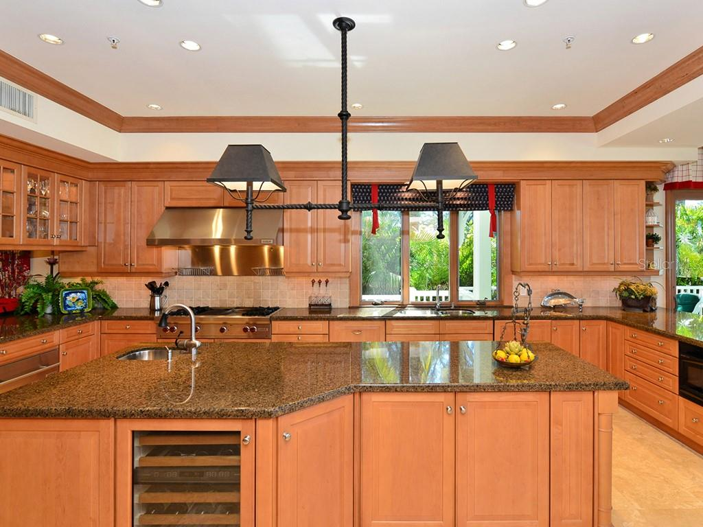 Chefs Kitchen w/Wine Fridge - Single Family Home for sale at 6301 Gulf Of Mexico Dr, Longboat Key, FL 34228 - MLS Number is A4460816