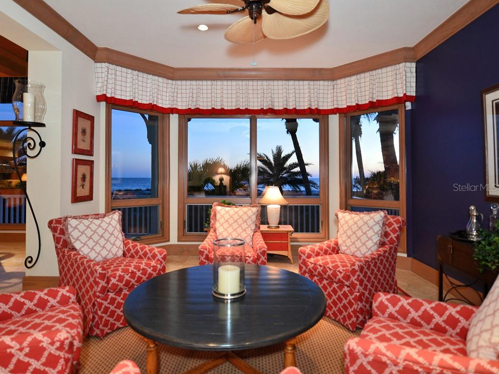 Seating Area w/Gulf Views - Single Family Home for sale at 6301 Gulf Of Mexico Dr, Longboat Key, FL 34228 - MLS Number is A4460816
