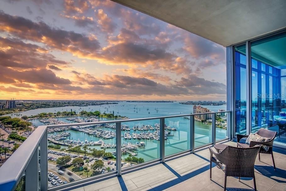 Stunning views from your terrace - Condo for sale at 1155 N Gulfstream Ave #1909, Sarasota, FL 34236 - MLS Number is A4461040