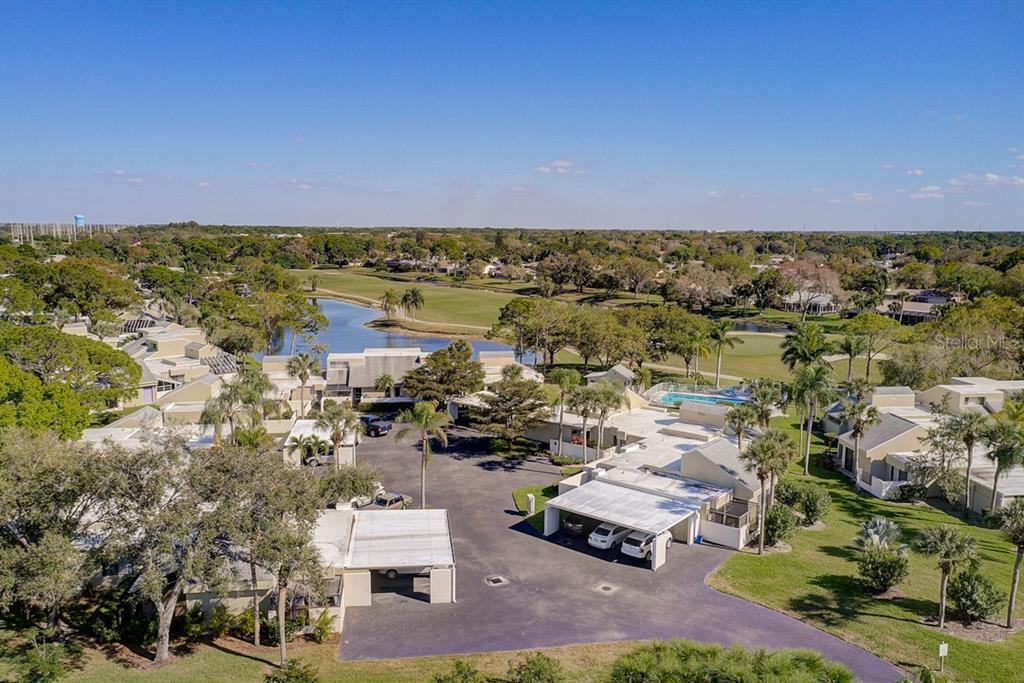 Aerial Drone of Cul-de-sac  from Aerial Drone - Condo for sale at 2319 Lakeside Mews #B3, Sarasota, FL 34235 - MLS Number is A4462396