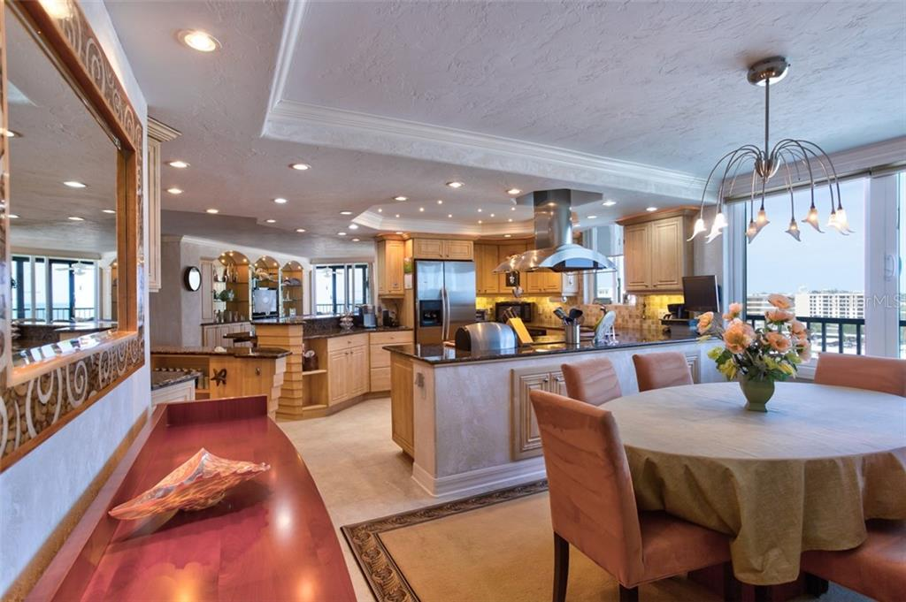 Over-sized dining area - Condo for sale at 5880 Midnight Pass Rd #911, Sarasota, FL 34242 - MLS Number is A4462559