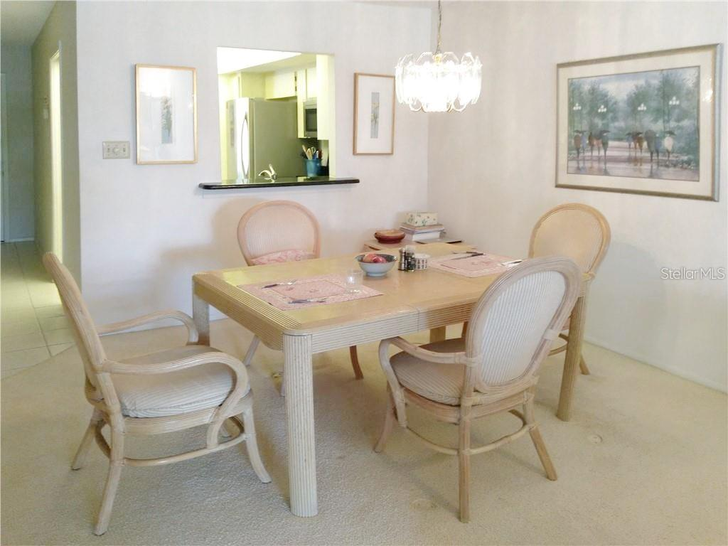 Dining Area - Condo for sale at 7130 Fairway Bend Ln #292, Sarasota, FL 34243 - MLS Number is A4464271