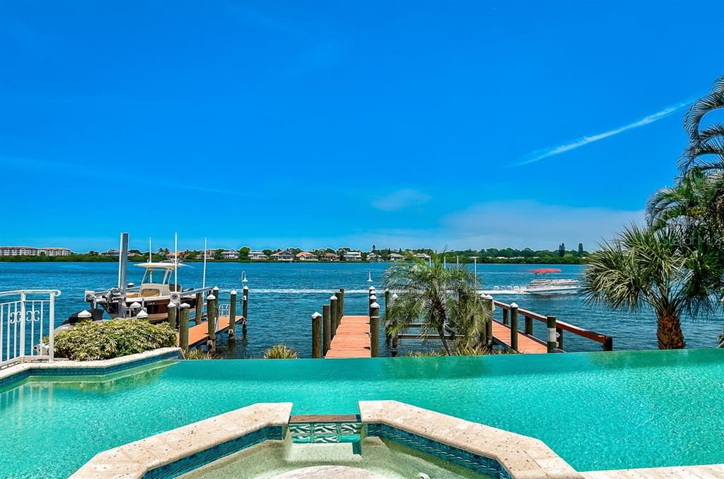 Pool and Spa overlooking the Bay - Condo for sale at 5923 Midnight Pass Rd #3, Sarasota, FL 34242 - MLS Number is A4465178