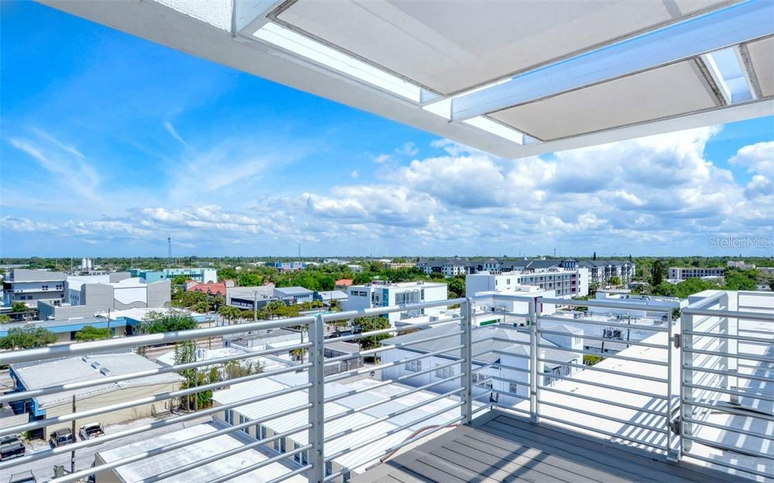 The roof top offers two flying observation decks on either side of the roof top pool to take in 360 degree views of the city and skyline. - Condo for sale at 1350 5th Street #301, Sarasota, FL 34236 - MLS Number is A4466172