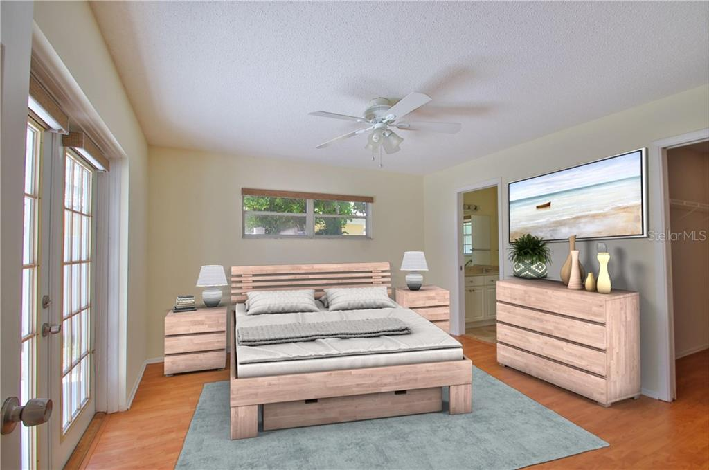 Master Bedroom - Single Family Home for sale at 7403 13th Avenue Dr W, Bradenton, FL 34209 - MLS Number is A4466662