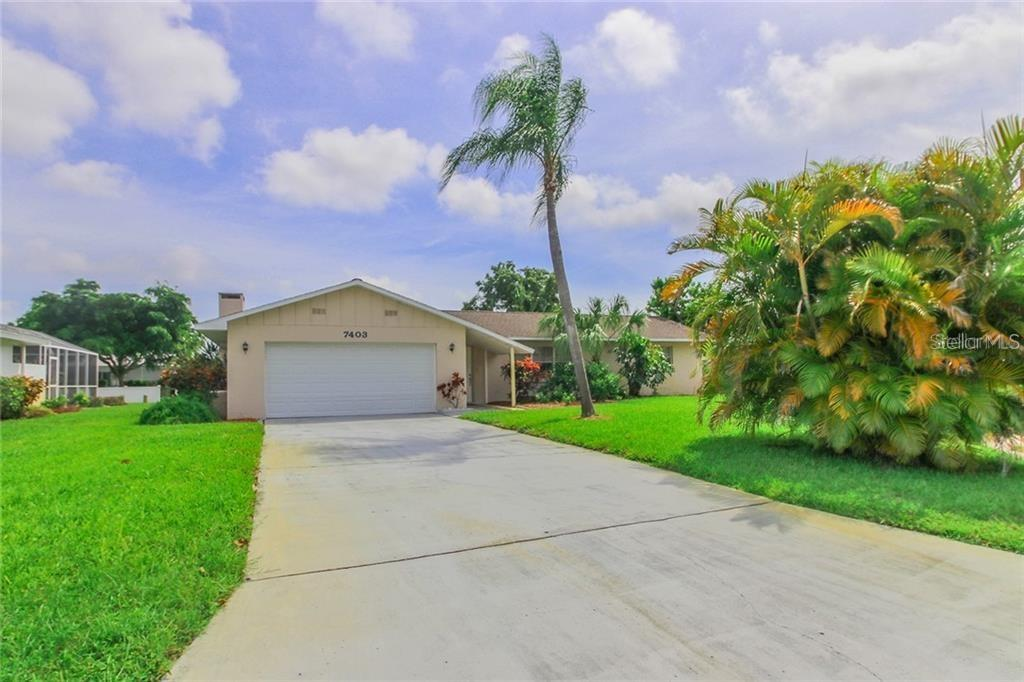 Located on a cul de sac - less traffic - Single Family Home for sale at 7403 13th Avenue Dr W, Bradenton, FL 34209 - MLS Number is A4466662