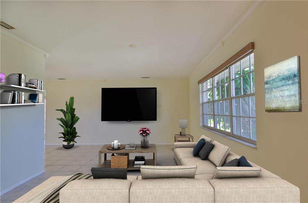 Living Room - Single Family Home for sale at 7403 13th Avenue Dr W, Bradenton, FL 34209 - MLS Number is A4466662