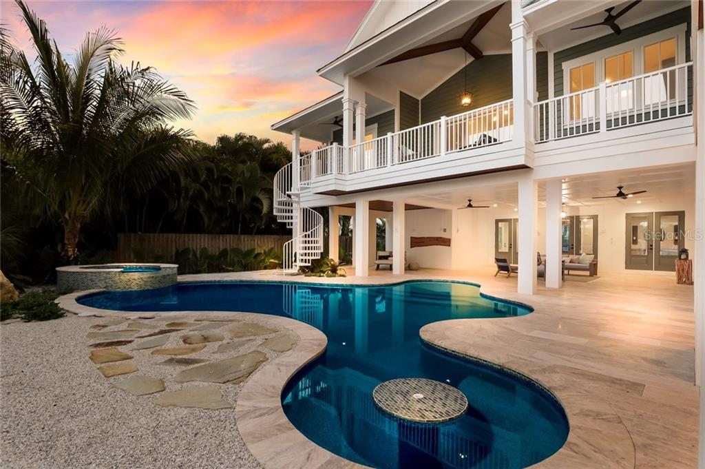 Sunset time by the pool - Single Family Home for sale at 217 Willow Ave, Anna Maria, FL 34216 - MLS Number is A4466825