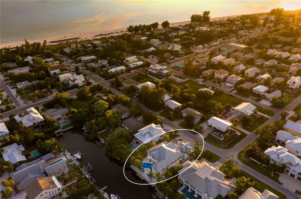 Gulf of Mexico view at sunset - Single Family Home for sale at 217 Willow Ave, Anna Maria, FL 34216 - MLS Number is A4466825
