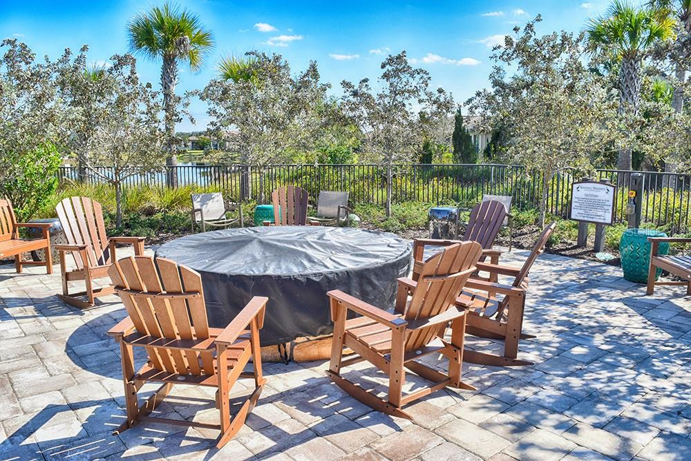 fire pit at the community center - Single Family Home for sale at 11196 Whimbrel Ln, Sarasota, FL 34238 - MLS Number is A4471096